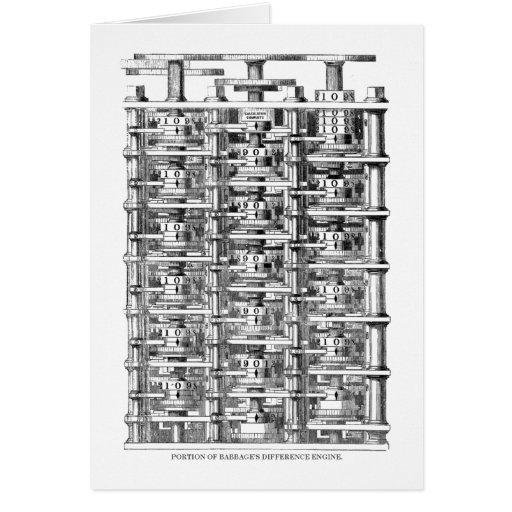 Motor de diferencia de Babbage Tarjeta De Felicitación