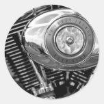 Motor de la bici pegatinas redondas