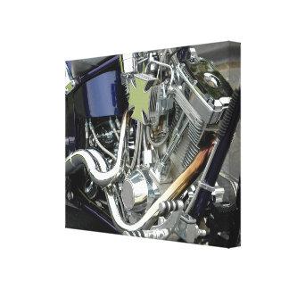 Motor de la motocicleta impresion en lona