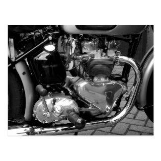 Motor de la motocicleta postales