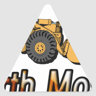 Motor de la tierra pegatinas de trianguladas