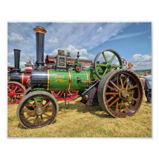 Motor de tracción del vapor fotografías