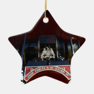 Motor de tracción delantero del detalle adorno navideño de cerámica en forma de estrella