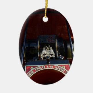 Motor de tracción delantero del detalle adorno navideño ovalado de cerámica