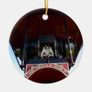 Motor de tracción delantero del detalle adorno navideño redondo de cerámica