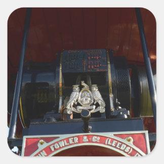 Motor de tracción delantero del detalle pegatina cuadrada