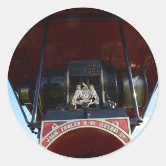 Motor de tracción delantero del detalle pegatina redonda