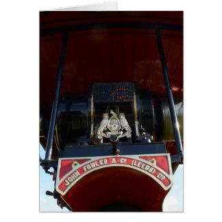 Motor de tracción delantero del detalle tarjeta de felicitación