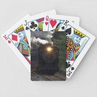 Motor de vapor barajas de cartas