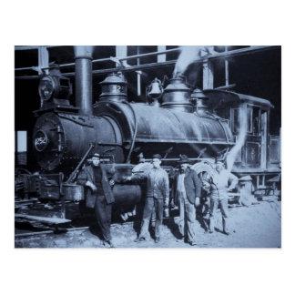 Motor de vapor de GTW #1252 en el Roudhouse Tarjeta Postal