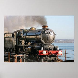 Motor de vapor de rey Edward 1 Póster