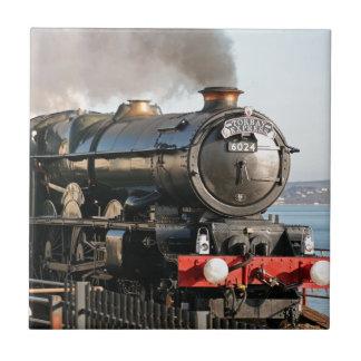 Motor de vapor del vintage de rey Edward 1 Azulejo Cuadrado Pequeño