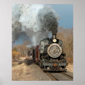 Motor de vapor en el poster de Sun Póster