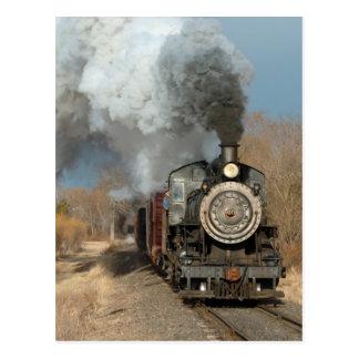 Motor de vapor en el Sun Tarjeta Postal