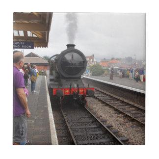 Motor de vapor en Sheringham Azulejo Cuadrado Pequeño