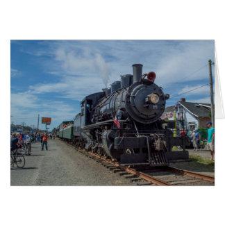 Motor de vapor escénico del ferrocarril de la tarjeta pequeña