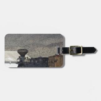 Motor de vapor etiquetas maleta