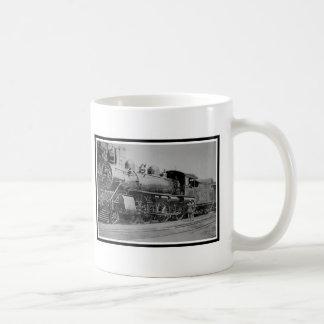 Motor de vapor locomotor del ferrocarril del taza de café