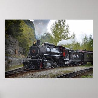 Motor de vapor poster
