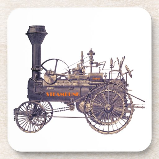 Motor de vapor rebelde de Steampunk Posavasos