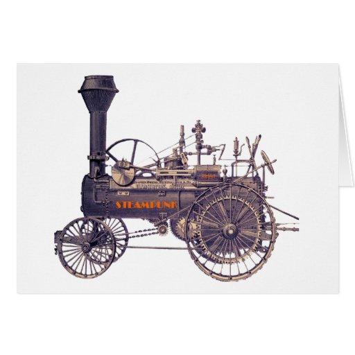 Motor de vapor rebelde de Steampunk Tarjeta De Felicitación