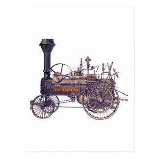 Motor de vapor rebelde de Steampunk Tarjeta Postal