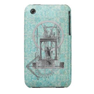 Motor de vapor Steampunk iPhone 3 Case-Mate Cobertura