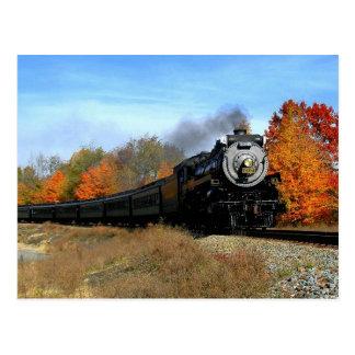 Motor de vapor tarjeta postal