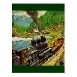 Motor de vapor tarjetas postales