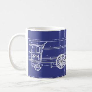Motor de vapor taza de café