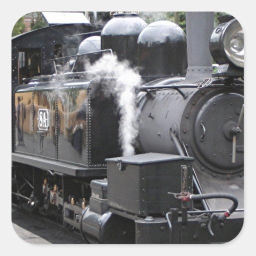 Motor de vapor, Victoria, Australia Calcomanías Cuadradass