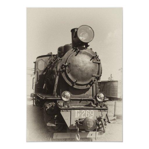 """Motor de vapor viejo del estrecho-indicador Gr-269 Invitación 5"""" X 7"""""""