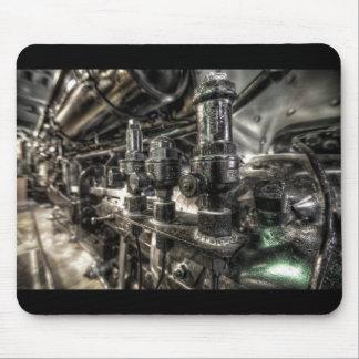 Motor de vapor viejo alfombrillas de ratón