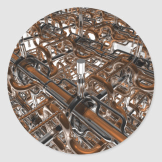 motor del caos pegatina redonda