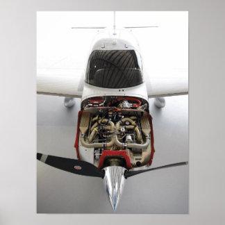 Motor del cirro póster