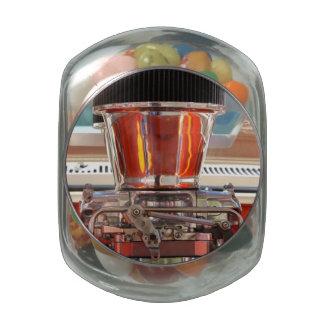 Motor del cromo jarras de cristal