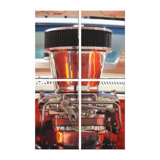 Motor del cromo lona envuelta para galerías