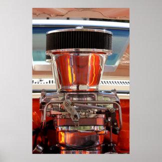Motor del cromo posters