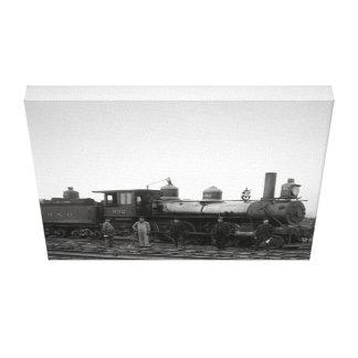 Motor del ferrocarril de Baltimore y de Ohio # 932 Lona Envuelta Para Galerías