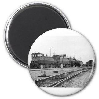 Motor del tren del vintage imán de nevera