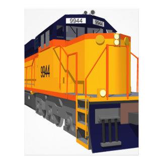 """Motor del tren: Esquema de color clásico: Folleto 8.5"""" X 11"""""""