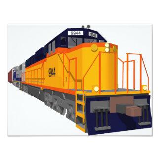 """Motor del tren: Esquema de color clásico: Invitación 4.25"""" X 5.5"""""""