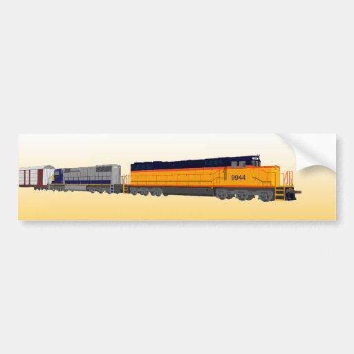 Motor del tren: Esquema de color clásico: Pegatina Pegatina De Parachoque