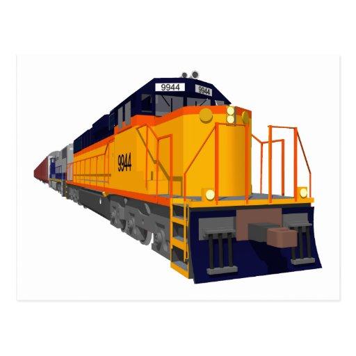 Motor del tren: Esquema de color clásico: Postal