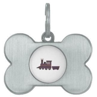 Motor del tren placa mascota