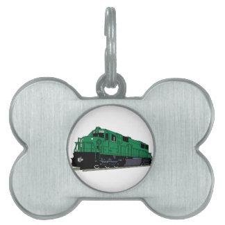 Motor del tren placas mascota