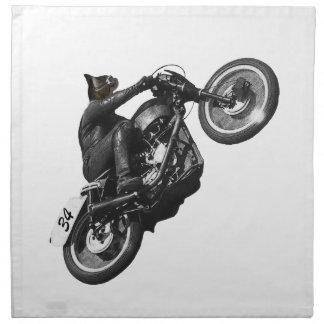 motor del vintage que compite con el gato servilletas