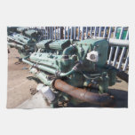 Motor diesel marino toallas