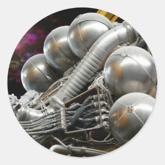 Motor espacial de Saturn V Pegatinas Redondas