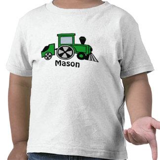 Motor feliz del tren del verde de las pistas camisetas